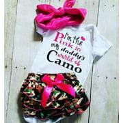 Newborn Kids Baby Girls Cotton Romper Camo Tutu Shorts Outfits Set Clothes