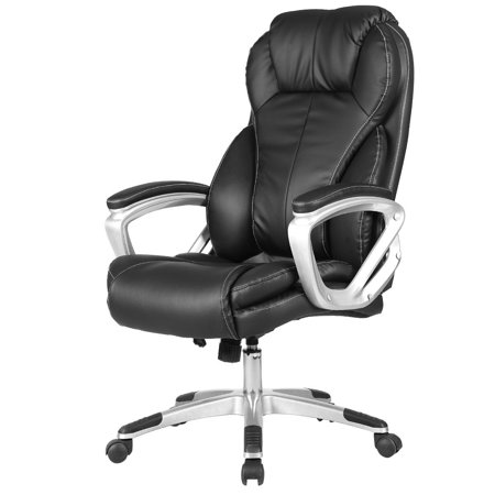 costway pu leather executive office chair high back ergonomic