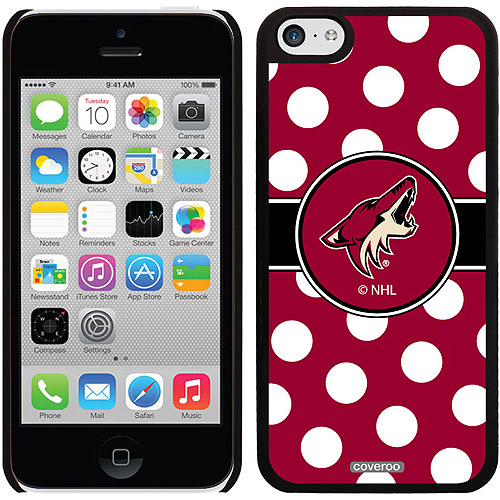 Phoenix Coyotes Polka Dots Design on iPhone 5c Thinshield Snap-On Case by Coveroo
