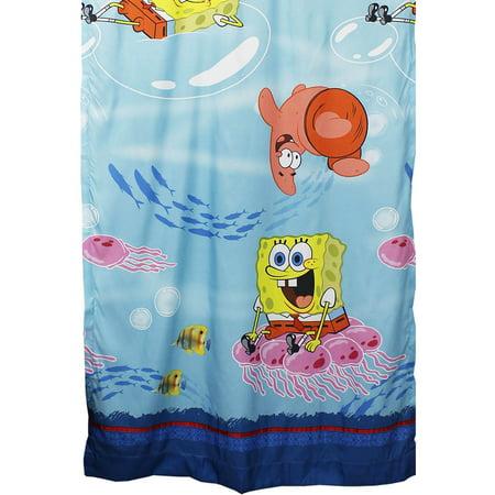 Franco Manufacturing Company Inc 18875001 Catch Me Spongebob Squarepants Long Curtain Panel