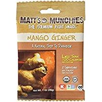 Matt's Munchies The Premium Fruit Snack Mango Ginger 1 Oz. Pk Of 3.