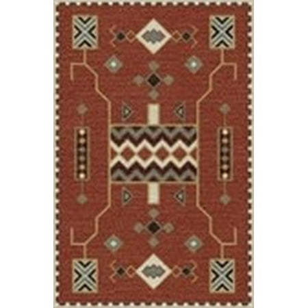 Rizzy Home Mesa Red Southwest Tribal Shag 8 X 11 Area Rug