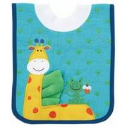Giraffe Pullover Bib w/Washcloth by AMPM Kids - 21006