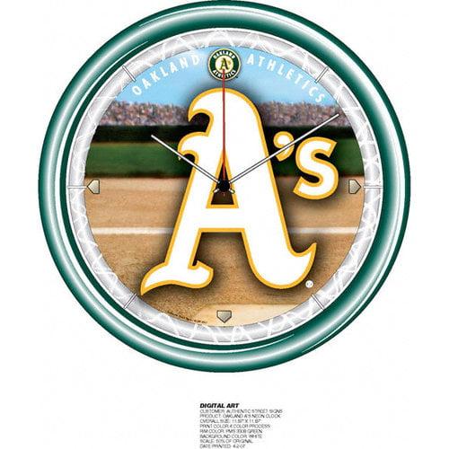 MLB - Oakland Athletics Plasma Neon Clock