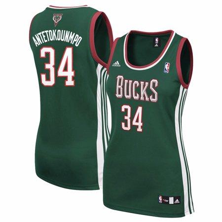 Giannis Antetokounmpo Milwaukee Bucks NBA Adidas Women s Green Replica  Jersey - Walmart.com 03d7d5a6f