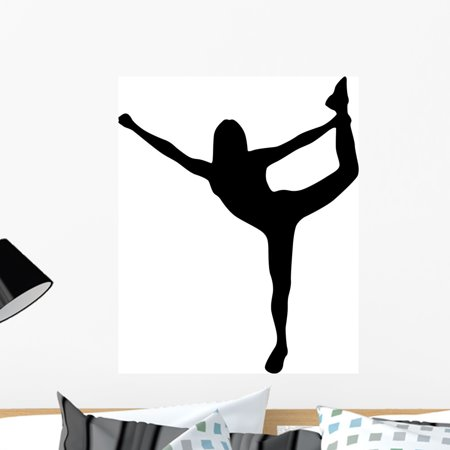 Cheer Silhouette Black Wall Decal by Wallmonkeys Peel and Stick Graphi