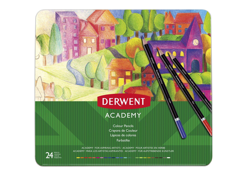 derwent academy colored pencil set 24 color tin set walmart com walmart com