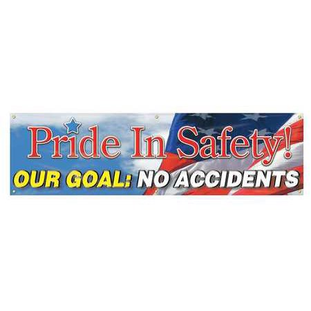 Accuform Signs Mbr882 Banner  Pride In Safety  28 X 96 In