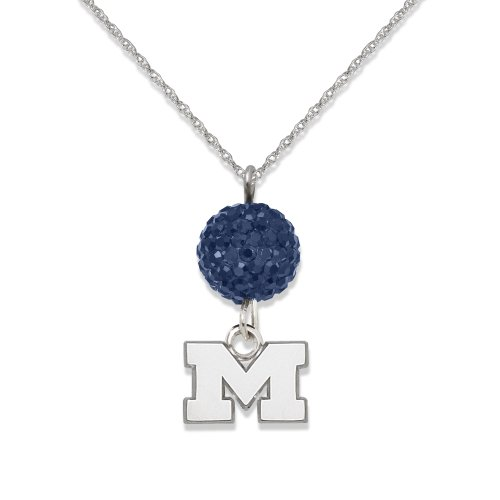 University of Michigan S/S UNIV OF MICHIGAN CRYSTAL OVATION NECKLACE
