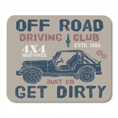 KDAGR 4Wd Offroad Driving Club SUV Car Graphics 4X4 Auto Automobile Mousepad Mouse Pad Mouse Mat 9x10