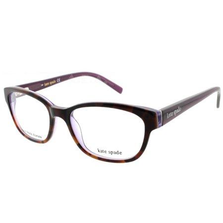 Kate Spade Blakely JLG 50mm Tortoise Brown Purple Women's (Mens Tortoise Shell Eyeglass Frames)