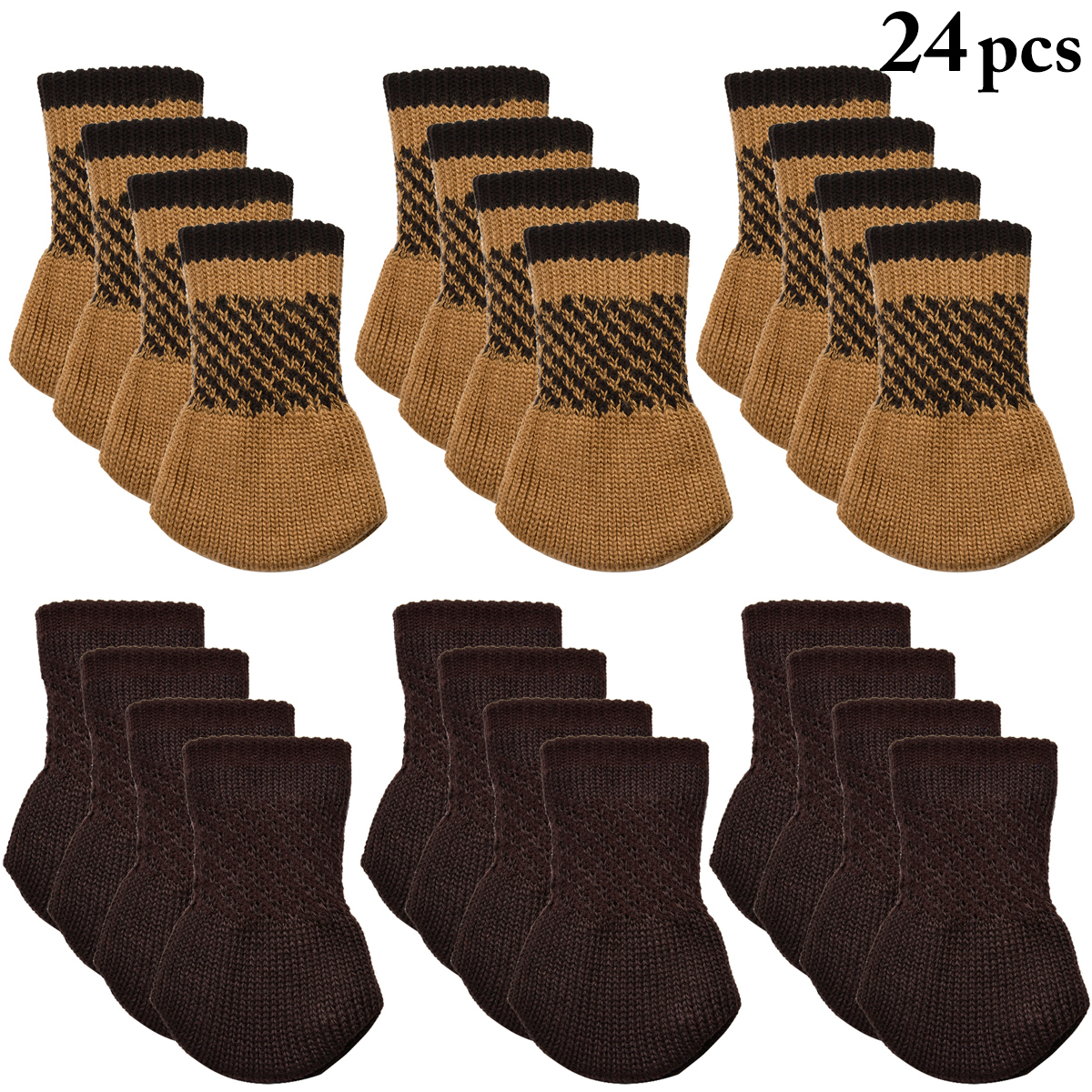 Marvelous 24Pcs Chair Socks, Outgeek Knitted Anti Skid Chair Leg Floor Protectors  Furniture Pads Table Desk Leg Covers Caps For Home Kitchen Living Room  Patio Office ...