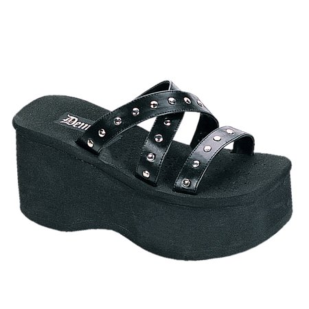 3 1/2 Inch Hot Gothic Studded Sandal Goth Shoes Black Studs Demonia for $<!---->