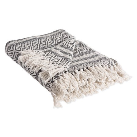 - DII Rustic Farmhouse Cotton Adobe Stripe Blanket Throw with Fringe For Chair, Couch, Picnic, Camping, Beach, & Everyday Use , 50 x 60