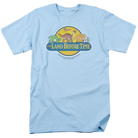 Trevco LAND BEFORE TIME DINO BREAKOUT Light Blue Adult Unisex T-Shirt (Dinosaur Shirts For Adults)
