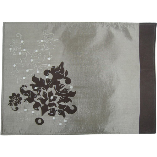 Mainstays Embroidered Leaf Placemats, Set of 4
