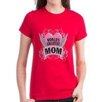 CafePress - Worldgreatmom2 T-Shirt - Women's Dark T-Shirt