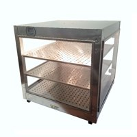 Heatmax Commercial Countertop Food Warmer Display Case With Water Tray 24x24x24 by Food Warmers