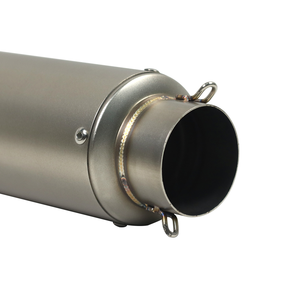 Motorbike Tailpipe Refit Exhausts Muffler Scooter Cruiser Street Bike Parts Motorcycles Universal Modified Stainless Steel Dolphin Exhaust Tip Silencer Pipe 51MM Color : A