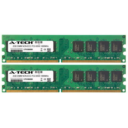 Dimm Non Ecc Unbuff Module - 4GB Kit 2x 2GB Modules PC2-8500 1066MHz NON-ECC DDR2 DIMM Desktop 240-pin Memory Ram
