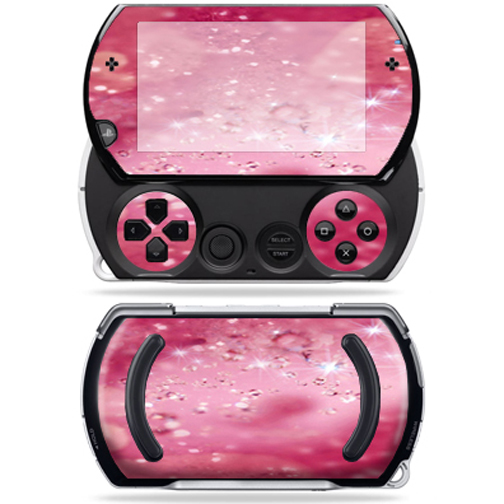 Mightyskins Protective Vinyl Skin Decal Cover for Sony PSP Go System wrap sticker skins Pink Diamonds