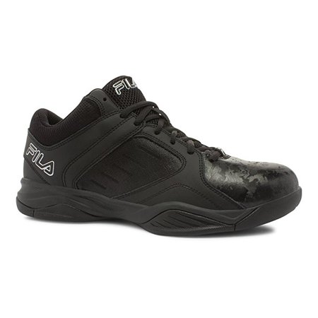 e319e19f14ee Fila - Fila BANK Mens Black Low Top Athletic Basketball Sneakers Shoes -  Walmart.com