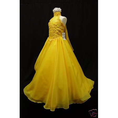 Yellow Pageant Girl Wedding Recital Formal Party Dress  Size3 4 5 6 7 8 10 12 14