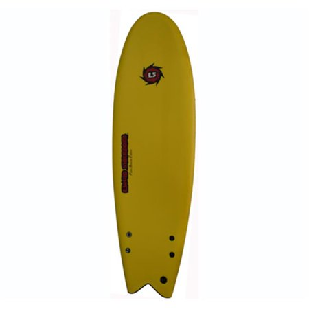 Liquid Shredder 5 ft. 10 in. FSE Fish EPS-PE Soft Surf Board, Yellow
