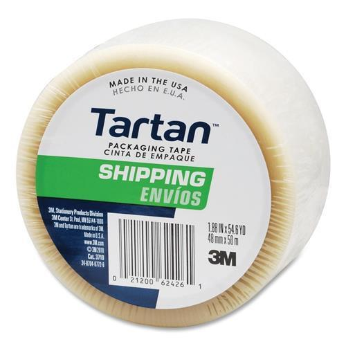 "Tartan 37102CR General Purpose Packing Tape - 2"" Width x 55 yd Length - 3"" Core - 1 / Roll - Clear"