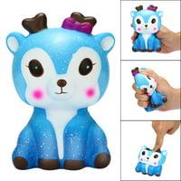 〖Follure〗Kawaii Cartoon Galaxy Deer Squishy Slow Rising Cream Scented Stress Reliever Toy