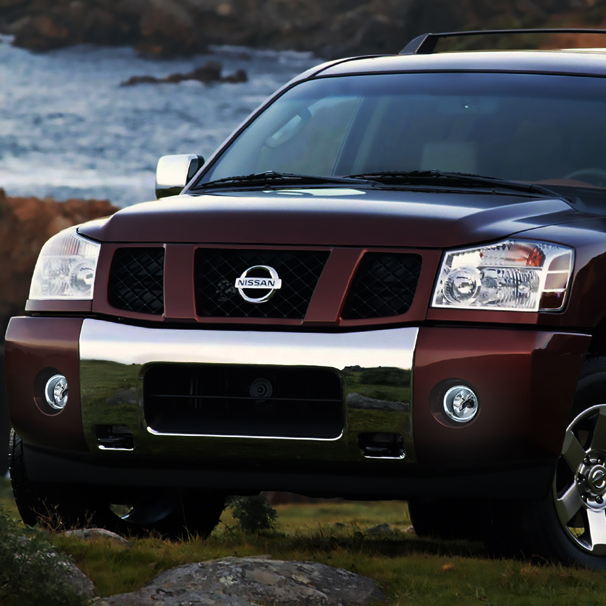 FOR 04-15 NISSAN TITAN ARMADA PAIR HALO RING FRONT DRIVING FOG LIGHT LAMP CLEAR