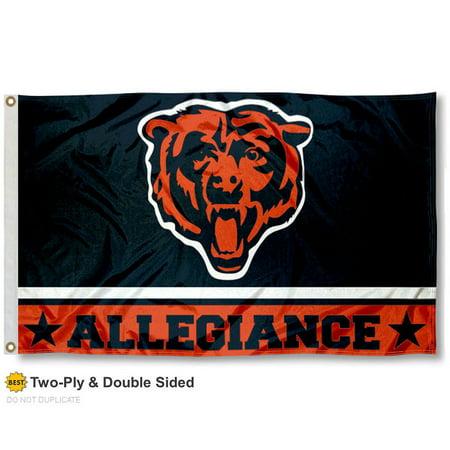 Chicago Bears Allegiance Two Sided Flag