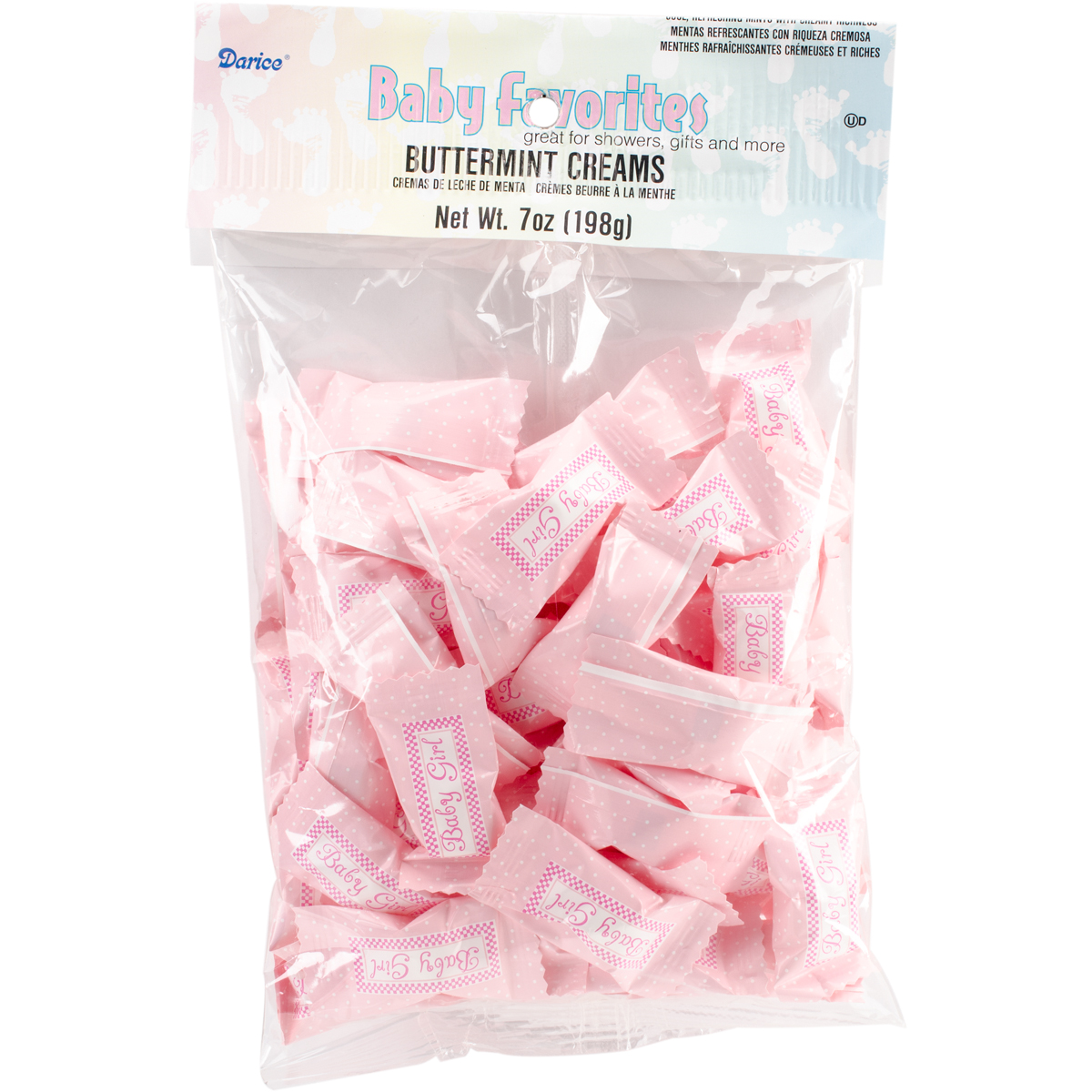 Baby Shower Favor Mints 7oz-Baby Girl Pink
