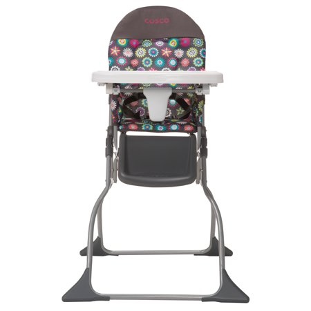Cosco Simple Fold Full Size High Chair With Adjustable Tray Bloom