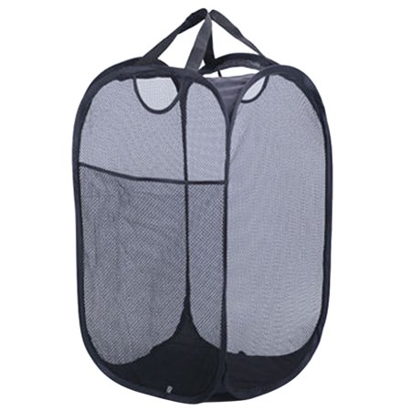 Laundry Basket, Justdolife Mesh Pop Up Foldable Collapsible Laundry Bag Organizer Basket Hamper Bin Storage with Carry (Pop Up Laundry Bags)