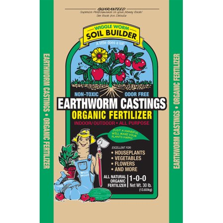 Unco Industries Wiggle Worm Soil Builder Worm Castings  30 Pounds