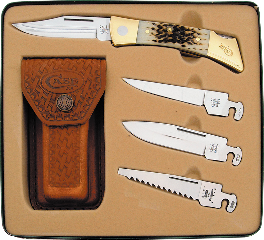 Case Cutlery 70050 XX-Changer Gift Set Amber Bone Multi-Colored