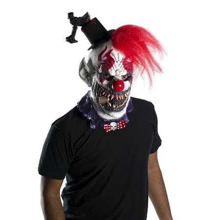 Captain Creepo Adult Evil Demon Clown Overhead Latex Halloween Mask (Demon Clown Mask)