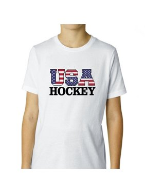1a5cbfe6c8a Product Image USA Hockey - Olympic Games - Rio - Flag Boy's Cotton Youth T- Shirt