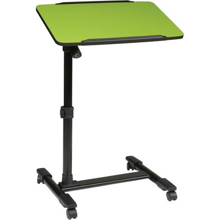 Office star products mobile laptop cart with adjustable top - Computer cart walmart ...