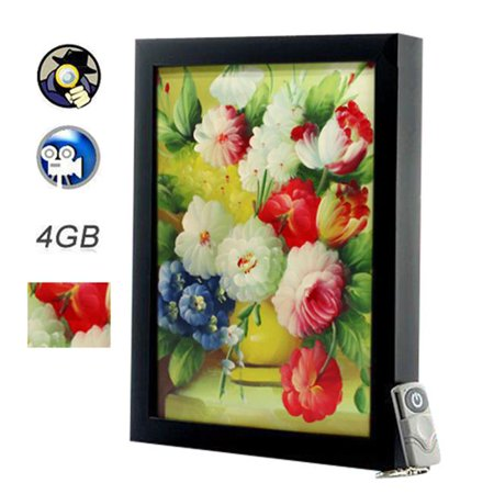 Deals ANK Electronics F20705 Flowery Painting With Spy – Hidden Camera And Wireless Remote Control Before Too Late
