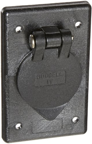 Hubbell Wiring Systems Tv97 Polycarbo1te Cable Tv Outlet With