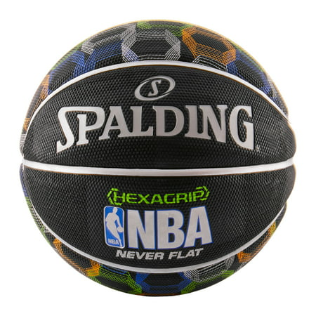 Iowa Hawkeyes Black Basketball (Spalding NBA SGT Neverflat Hexagrip 29.5
