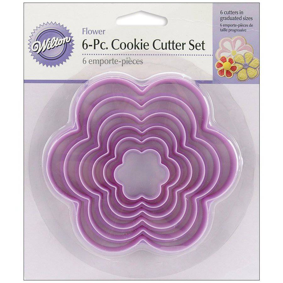 Wilton Nesting Plastic Cookie Cutter Set, Flowers 6 ct. 2304-116