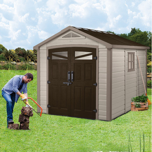 Keter Orion 8ft.4.5'' W x 9ft.5'' D Resin Storage Shed
