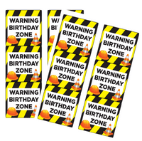 120ct Construction Birthday Zone Stickers
