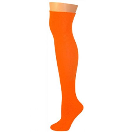Knee High Socks - Neon Orange - Neon Knee High Socks