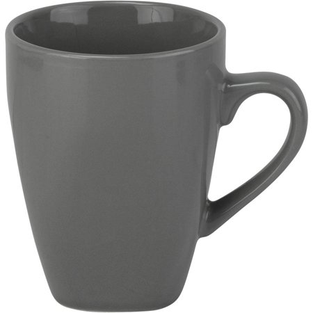 10 Strawberry Street Nova Square 10 oz Mugs, Gray, Set of -
