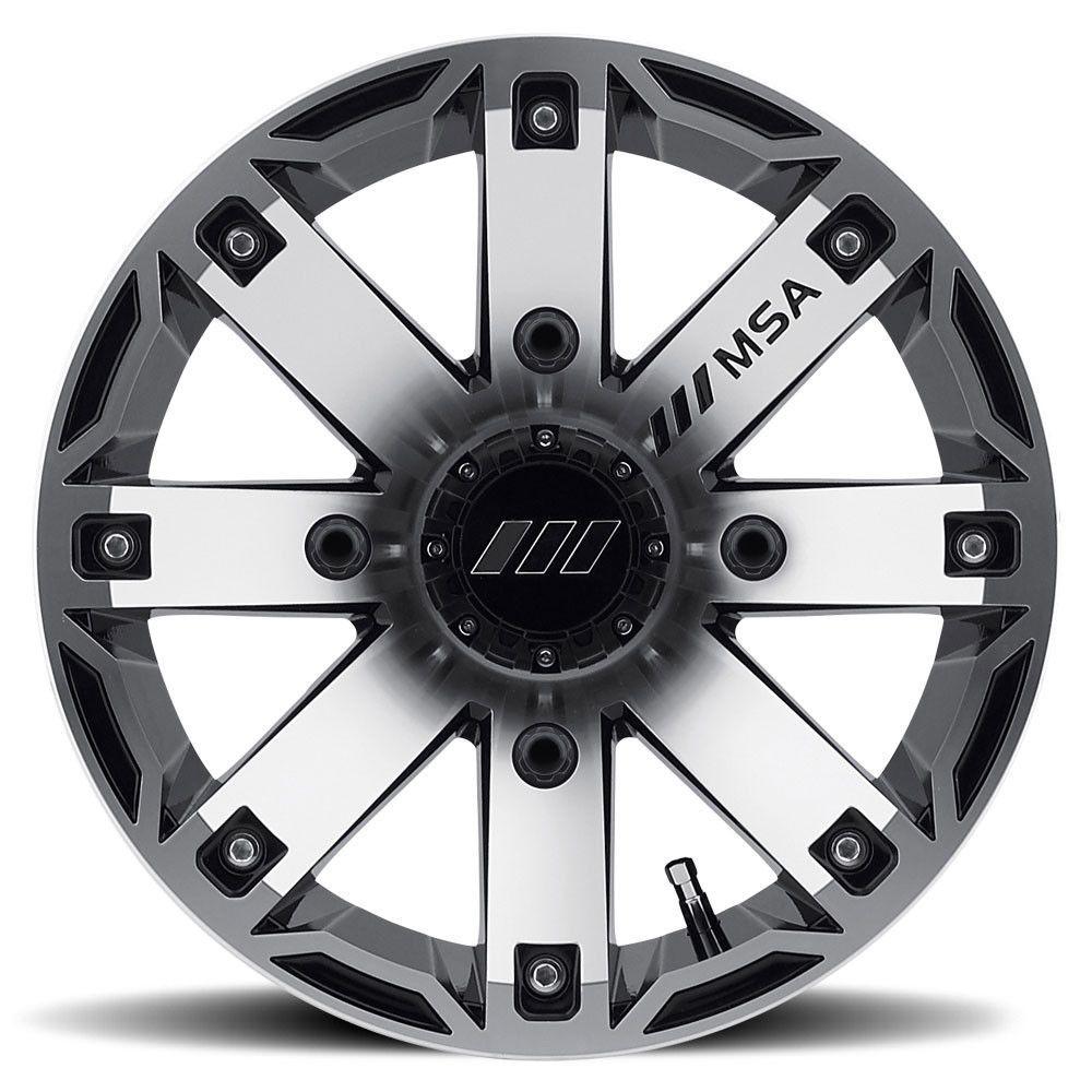 MSA M27 Rage ATV Wheel -  Machined/Black [12x7] +10mm, 4/156 [M27-02756]