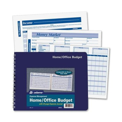Adams Home/Office Budget Record Book ABFAFR31